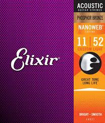 elixir strings nanoweb phosphor bronze acoustic guitar strings