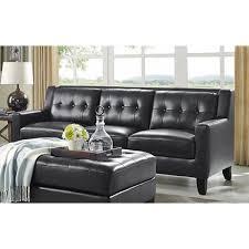 Loveseat Black Leather Roxi Leather Living Room Sofa U0026 Loveseat Black Ks17 Living