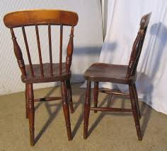 4 victorian beech u0026 elm stick back kitchen chairs antiques atlas