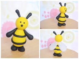 bumble bee cake topper bee cake topper handmade polymer clay bee by thelinnypig on