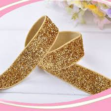 metallic gold ribbon free shipping 5 8 16mm 30 colors can be choosed metallic elastic