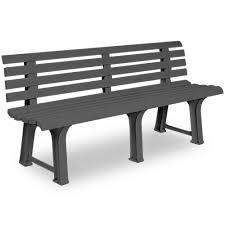 garden bench outdoor 3 seater patio terrace furniture grey