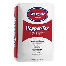 westpac materials 25 lb hopper tex ceiling texture bag 10025h