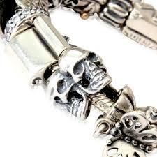 european bracelet designs images Triple skull charm 925 sterling silver european style bracelet JPG