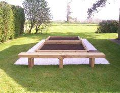 Raised Garden Bed With Bench Seating Les Mable U0027s Raised Beds With Bench Seats From New Railway Sleepers