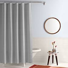 Simple Shower Curtains Real Simple Shower Curtain In Linear Grey Bed Bath Beyond