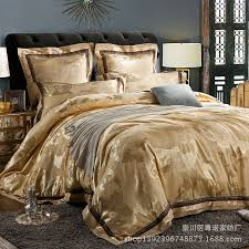Jacquard Bedding Sets 4pcs Satin Jacquard Bedding Set Cotton High Grade European
