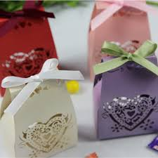 bridal party favors pink pearl paper laser cut favor boxes for wedding and