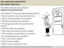 Waiter Job Description For Resume by Bar Waiter Interview Questions