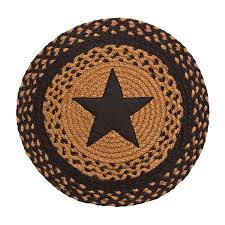 Country Star Home Decor Braided Chair Pads Country Primitive By Ihf Set Of 4 Ebay