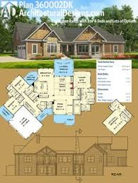 architectural designs house plans plan 36076dk striking craftsman with option for 5 beds