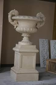 large urn on pedestal 67in http www worldclassfurnishings com