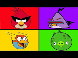 angry birds coloring pages learning colors angry birds space