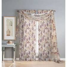 Chocolate Brown Valances For Windows Brown Window Scarves U0026 Valances Window Treatments The Home Depot