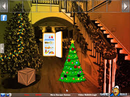 christmas decorated room escape video walkthrough youtube