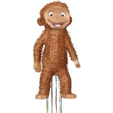 curious george 3d pull string pinata birthdayexpress