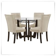 Florida Dining Room Furniture by Matinee Dark Tone Round Table U0026 4 Upholstered Chairs Home