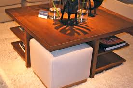 Upholstered Ottoman Coffee Table Furniture Stylish And Multifunctional Table Set For Your Living