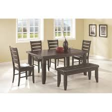 Coaster Dining Room Chairs Coaster 5pc Dining Table Chairs Bench Set Cappuccino