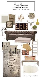how to create a rustic bohemian living room source list