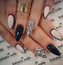 Black Manicure Designs 87 Of The Most Stunning Black And White Nail Designs You Ve