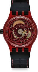 red swatch amazon com swatch sutr400 sistem51 sistem red watch swatch