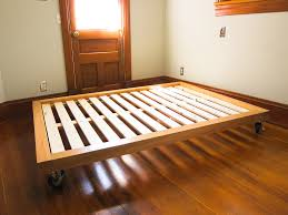 Building A Wooden Platform Bed by Diy Platform Bed Casters Beds Pinterest Diy Platform Bed