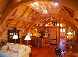 a frame home interiors post and beam home construction timber frame home and barn
