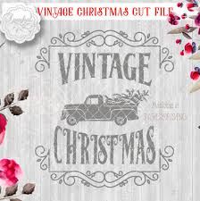 Vintage Ford Truck Decor - red truck christmas svg file cutting file ford pickup truck