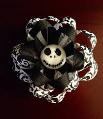 skellington ribbon nightmare before christmas skellington ribbon flower hair