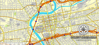dayton map dayton ohio us printable vector atlas 25 parts map