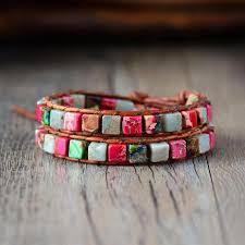 bracelet natural stones images Natural stone boho mix bracelet cape diablo store jpg