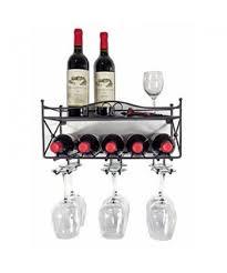 wall mounted wine rack with shelf u0026 stemware glass holder niakk