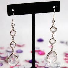 diy drop earrings how to make rhinestone drop earrings the crafty stalker