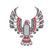 haida eagle temporary tattoo has tribal tones to complete it