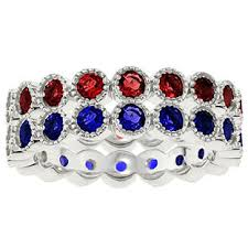 stacked birthstone rings personalized birthstone eternity stackable ring in white gold