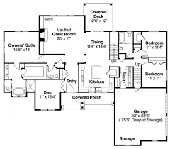 ranch style house plan 3 beds 2 50 baths 2283 sq ft plan 124 887