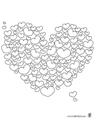 coloring pictures of hearts and roses cute heart valentines pages