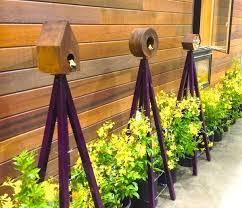 Climbing Plant Supports - modern decorative bird feeders landscape contemporary with garden