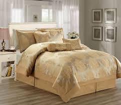 Gold Bed Set Hillsbro 7 Heritage Gold Comforter Set Cal King