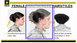 hairstyles for female army soldiers ar 670 1 female grooming standards youtube