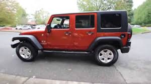 Wrangler 2009 2009 Jeep Wrangler Unlimited X Sport 9l764195 Sunburst Orange