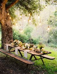 Ambiance Et Jardin A Forest Wedding Tablescape Once Wed Les Arbres Table Et Jardins