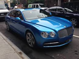 blue bentley 2016 bentley flying spur in new york business insider