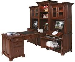 Partner Desk With Hutch Amish Partners Desk