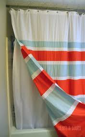 How To Install Shower Curtain Diy Shower Curtain With Grommets Hearts U0026 Sharts