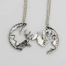 buck and doe couples necklace cheap interlocking necklaces for couples find interlocking