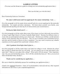 sample scholarship application employment application letter an
