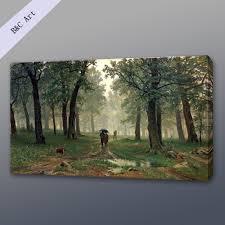 canvas art natural landscape rain the oak forest ivan ivanovich