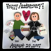 customized anniversary gifts 15 year wedding anniversary gifts the wedding specialiststhe